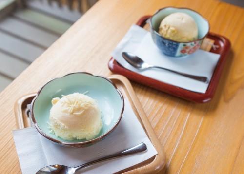 自家製アイスクリーム(各250円)