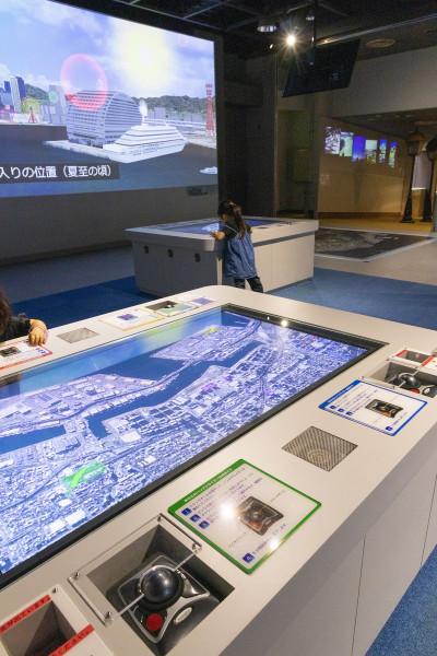 「神戸のまち」をテーマにした科学技術も多数展示