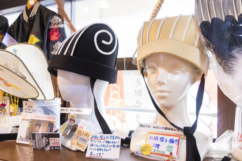 孔明の帽子は、なんとオリジナル!ここでしか買えない限定アイテム。