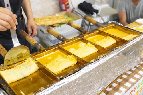 ふわふわの玉子焼きも人気